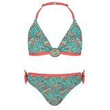 BOHO Bikini Meisje Paisley Sea Green_