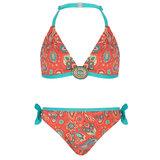 BOHO Bikini Meisje Paisley Coral_