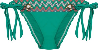 BOHO Bikini Bottom 'Briliant Aztec Bow' Smaragd Green
