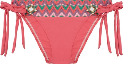 BOHO Bikini Bottom 'Briliant Bow' Coral