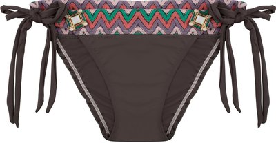 BOHO Bikini Bottom 'Briliant Aztec Bow' Dark Taupe