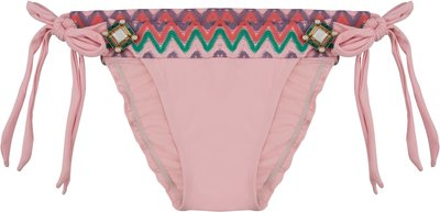 BOHO Bikini Bottom 'Briliant Aztec' Sweet Pink