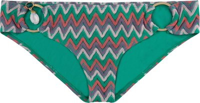 BOHO Bikini Bottom 'Exclusive Aztec' Smaragd Green