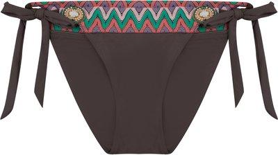 BOHO Bikini Bottom 'Iconic Aztec Bow' Dark Taupe