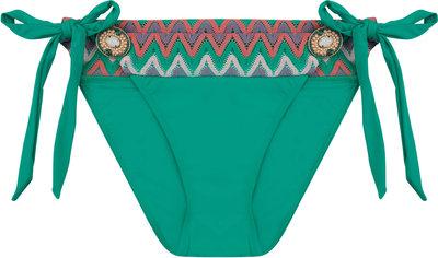 BOHO Bikini Bottom 'Iconic Aztec Bow' Smaragd Green