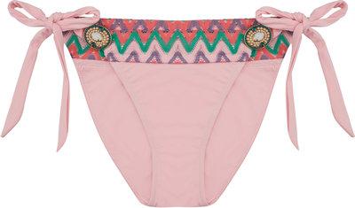 BOHO Bikini Bottom 'Iconic Aztec Bow' Sweet Pink