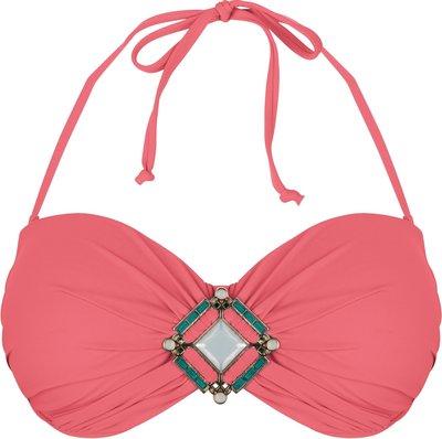 BOHO Bikini Top 'Briliant Bandeau' Coral