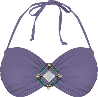 BOHO Bikini Top 'Briliant Bandeau' Lavender Lila