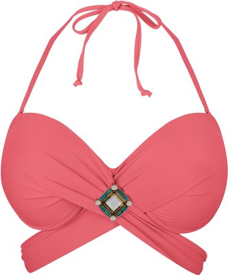 BOHO Bikini Top 'Briliant Wrap' Coral