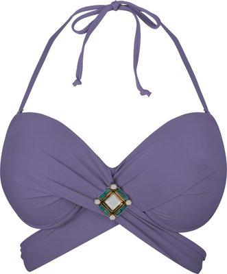 BOHO Bikini Top 'Briliant Wrap' Lavender Lila