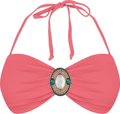 BOHO Bikini Top Iconic Bandeau Coral