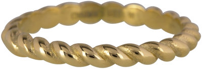 Ring R444 Gold 'Steel Curves'