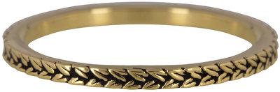 Ring R448 Gold 'Steel Braids'