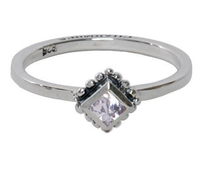 Ring R005 White 'Diamond Ace'