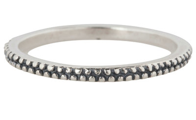 Ring R300 Silver 'Dotted'