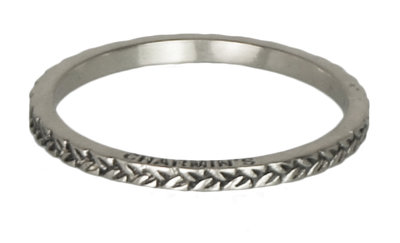 Ring R224 Silver 'Braided'