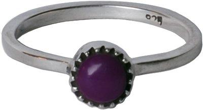 Ring R037 Purple Amethyst 'Nature Stone'