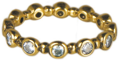 Ring XL75 Gold Diamond 'Turn Around'