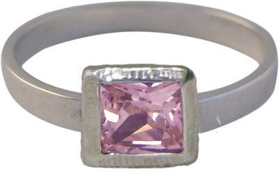 Ring KR27 'Cubic Diamond' Pink