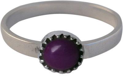 Ring KR06 'Natural Stone' Purple Amethyst