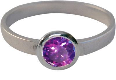 Ring KR02 'Round Diamond' Purple