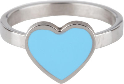KR73 Heart Blue Shiny Steel
