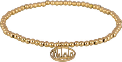 OHB09 Ohlala! Bracelet 3mm Gold