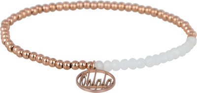 OHB19 Ohlala! Bracelet 3mm Rose Gold and white crystal