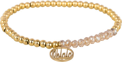 OHB36 Ohlala! Bracelet 4mm Gold and champ crystal