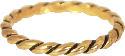 Ring R197 Gold 'Twisted' Staffelkorting