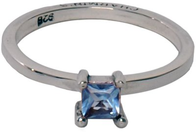 OP=OP Ring R028 Aquamarine 'Classic Diamond' STAFFELKORTING