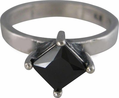 OP=OP Ring XL09 Black 'Square Diamond' STAFFELKORTINF