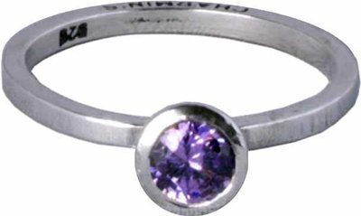 OP=OP Ring R142 Purple 'Round Diamond' STAFFELKORTING