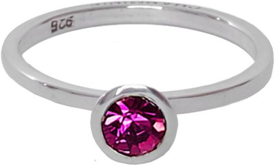 OP=OP Ring R141 Fucsia 'Round Diamond' STAFFELKORTING