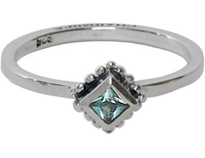 OP=OP Ring R008 Aquamarine 'Diamond Ace' STAFFELKORTING