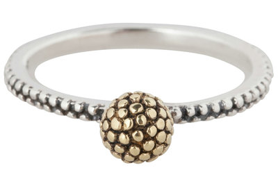 OP=OP Ring R302 Gold 'Dotty Ball' STAFFELKORTING