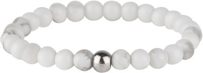 R556 Stretch RING Small Natural Stone Howlite