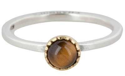 Ring R295 Tiger Eye 'Natural Stone'