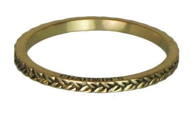 Ring R233 Gold 'Braided'