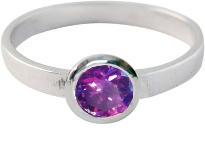 Ring KR01 'Round Diamond' Purple
