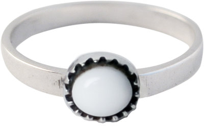 Ring KR05 'Natural Stone' White Agate