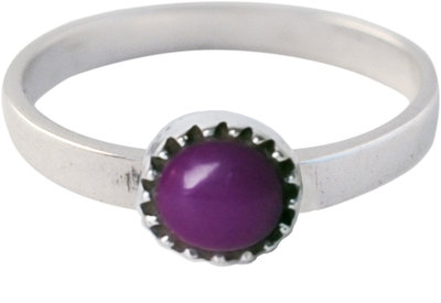 Ring KR06 'Natural Stone' Purple Amethyst