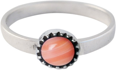 Ring KR07 'Natural Stone' Pink Jade