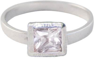 Ring KR25 'Cubic Diamond' White