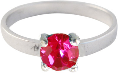 Ring KR30 'Princess Diamond' Ruby