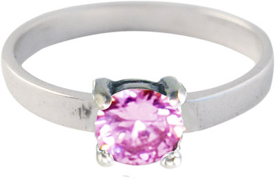 Ring KR31 'Princess Diamond' Pink
