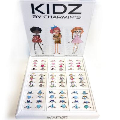KIDZ Rings Staal Display gevuld met 72 Ringen Pakket