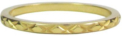 Ring R305 Gold 'Cross Steel' Staffelkorting