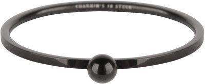 R531 Dot Ring Black steel