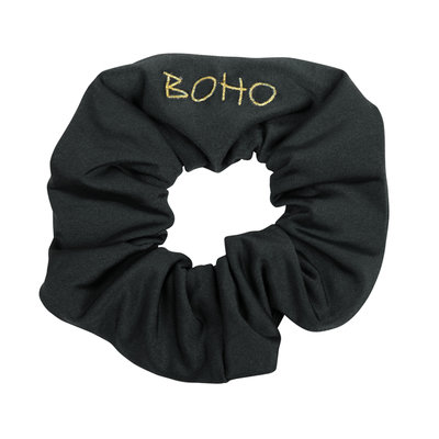 The Boho Scrunchy Charcoal-Grey
